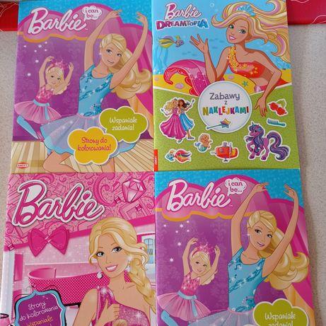 NOWE duże Książki A4 - Barbie Mattel i Dreamtopia zestaw z naklejkami