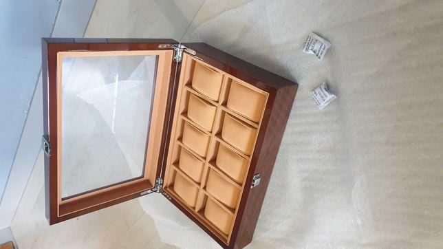 Caixa em madeira de luxo para guardar 10 relogios
