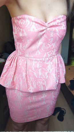 Vestido rosa e bege da Zara