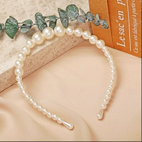 NOWA opaska do włosów z perłami
