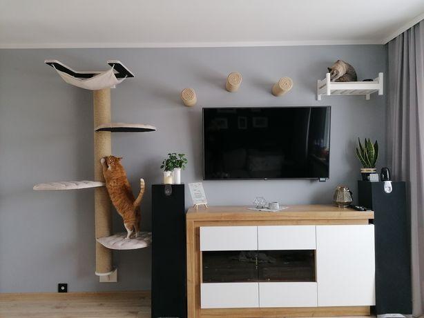 Zestaw 3 tub i łóżko/legowisko dla kotów / drapak