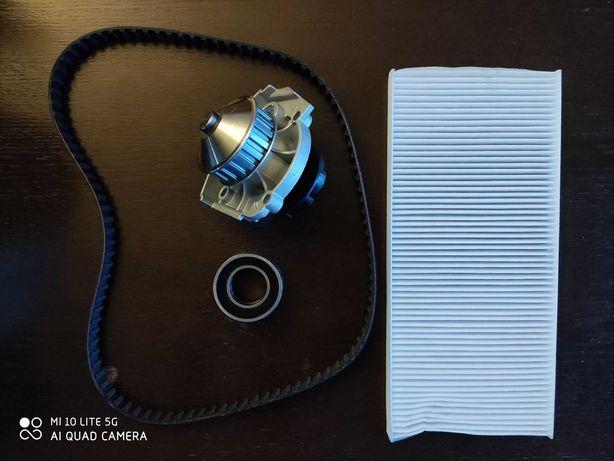 Zestaw paska rozrządu + pompa wody + filtr kabinowy FIAT 1.1