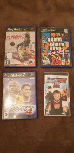 Caixas de jogos PS2 PSP