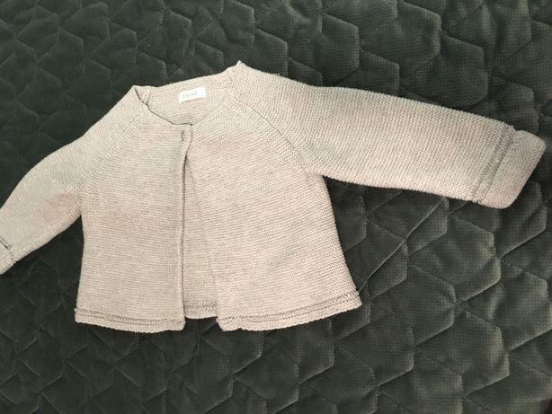 Eleganckie bolerko sweterek ze srebrną nitką  Next 12-18 m-cy