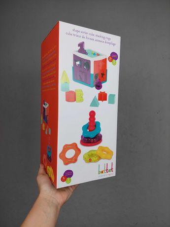 Набор Battat Баттат развивающая игрушка цветная пирамидка сортер