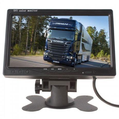 Monitor LCD 7 cali na stojaku do kamer cofania i podglądu