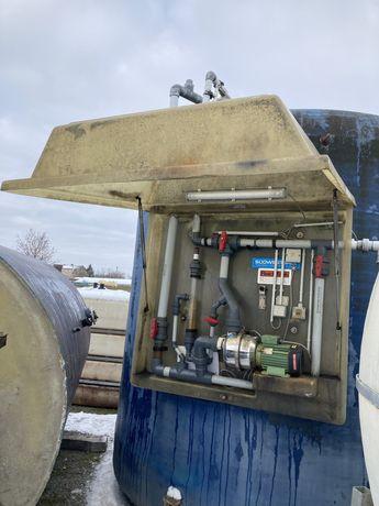 System solankowy Zbiornik 21000l+5000l+3000l+Pompa 33KW+rury nierdzewn