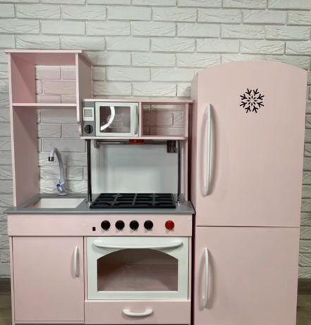 Деревянная детская кухня, h-1.3 / детская мебель/ игровая кухня
