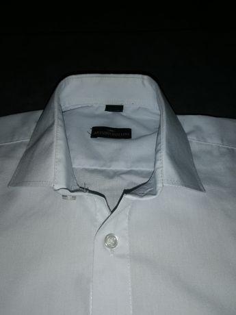 Koszula męska biała slim 35-36 + GRATIS