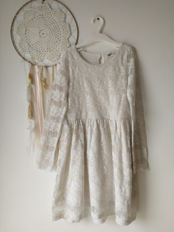 Sukienka koronka komunia wesele H&M 122 128