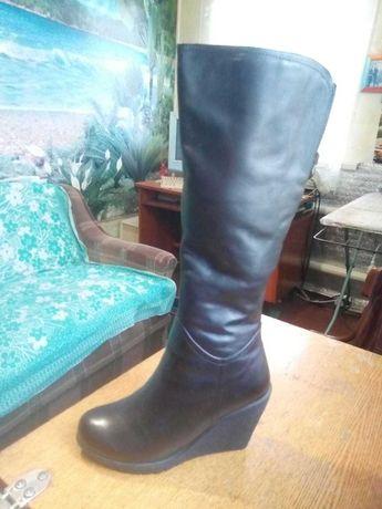 Сапоги кожаные, зима, новые
