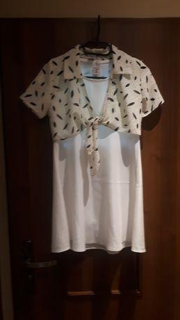 Sukienka 146 kremowa piękny material