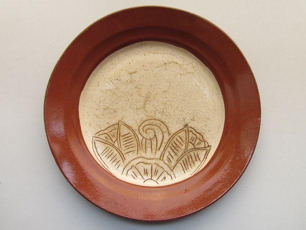 Prato artesanato alentejano com 25,5 cm de diâmetro