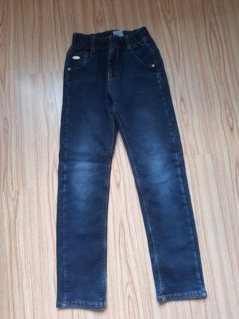Утепленные джинсы на флисе для мальчика рост 146