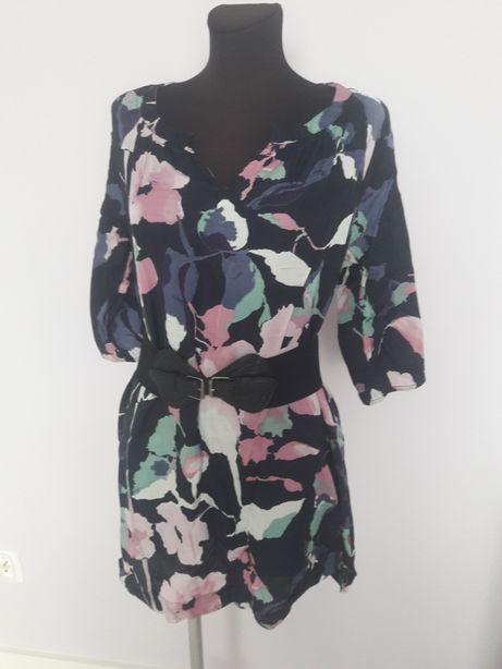 Sukienka tunika w kwiaty S/M