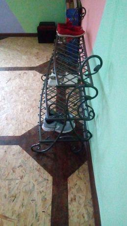 Кованая полка для обуви, полиця для взуття
