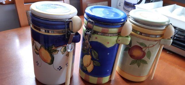 Pojemniki na mąkę, cukier - zestaw