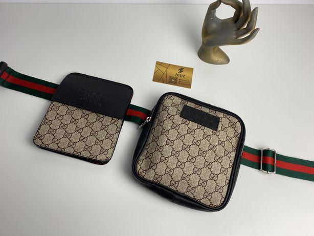 Nerka saszetka podwojna Gucci GG Premium supreme