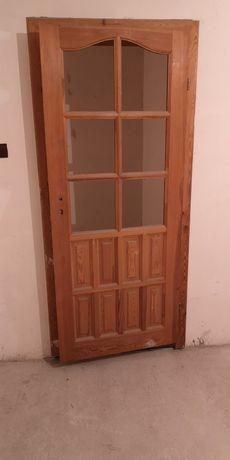 Drzwi robione 2x80 LEWE PRAWE z ościeżnicami 30 cm