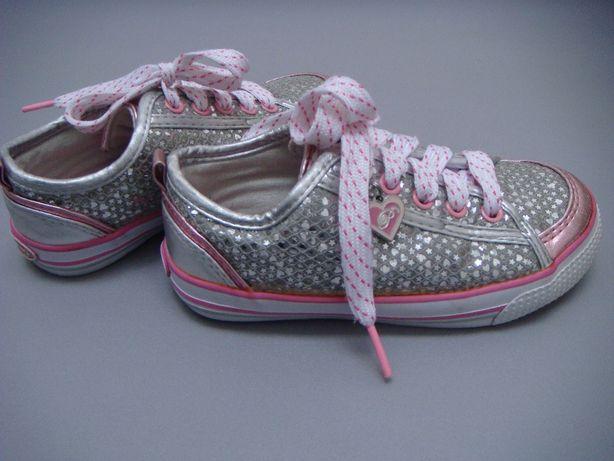 srebrne buty sportowe / tenisówki / adidasy nr 28