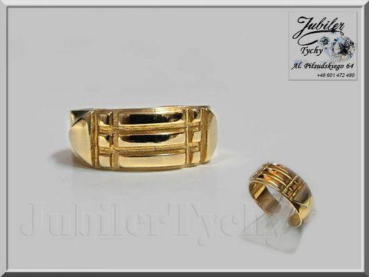 Złoty PIERŚCIEŃ ATLANTÓW Amulet Złoto Au 585 Gold Jubiler Tychy