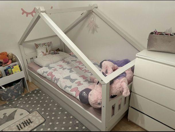 Łóżko dla ksiezniczki 90x200 dwie szuflady stelaż