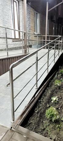 Поручни, перила, лестницы нержавейка Цена от 1950 грн. за метр