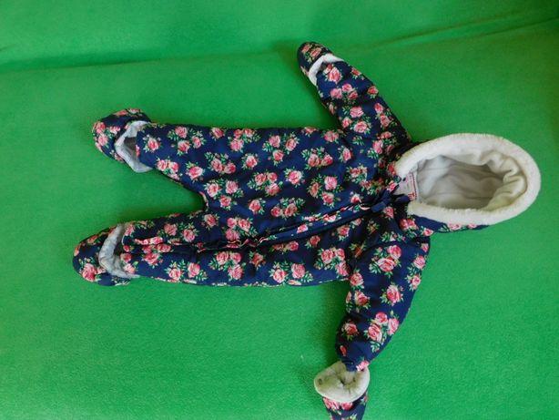 Kombinezon jesienny zimowy dla dziewczynki 6-9 miesięcy rozmiar 74 cm