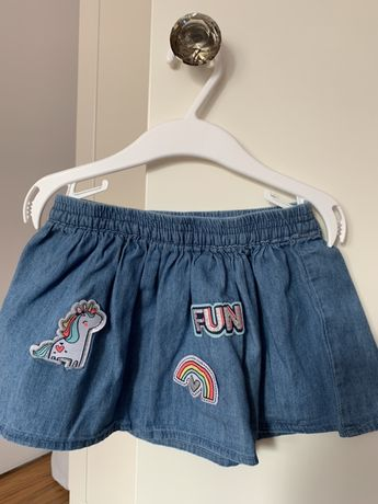 Spodniczka jeans unicorn jednorożec