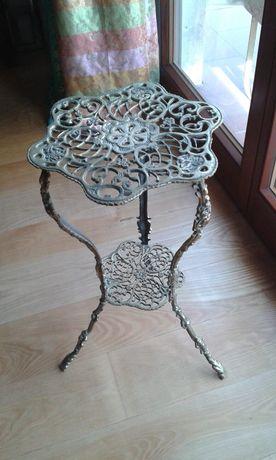 Stolik z mosiadzu mosiezny mosiadz kawowy stylowy antyk