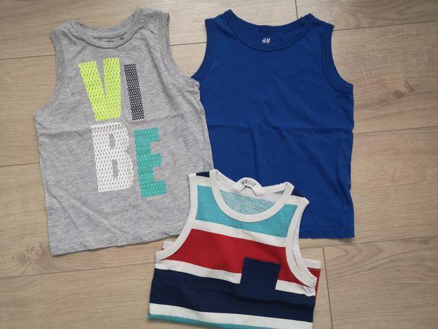 Tshirty koszulki na ramiaczkach r 98/104 h&m smyk
