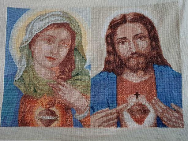 quadro Sagrado Coração de Maria e Sagrado Coração de Jesus