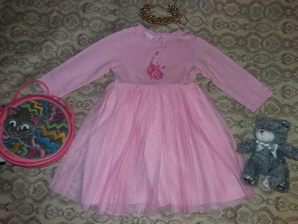 Красивое модное платье на принцессу 1.6-2 лет