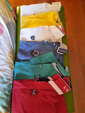 Pack 6 polos Gant e Lion 12 anos