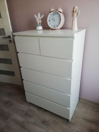 Komoda IKEA MALM biała 80x123 cm 6 szuflad