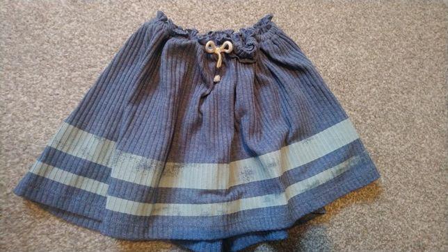 Spódnica ZARA niebieska bawełna 110