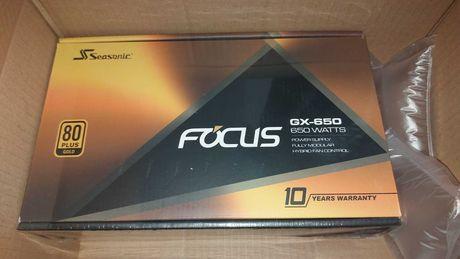 Fonte alimentação Seasonic Focus Gold GX-650 Modular 650W Nova/Selada