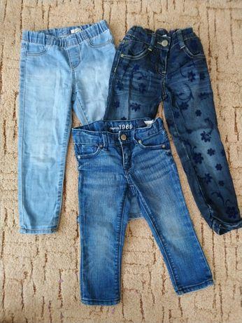Набор брендовые джинсы на девочку 98-104 Oshkosh ,gap,primigi