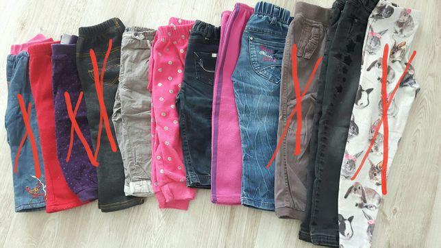 Spodnie ocieplane r.74-116