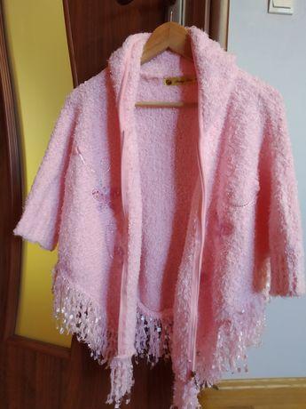 Peleryna /poncho różowe