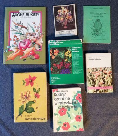 Zestaw książek-kwiaty w domu-vintage-7sztuk.