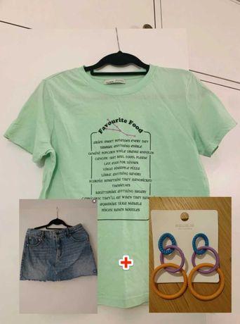 Conjunto T-shirt + calções (Oferta de brincos grátis)