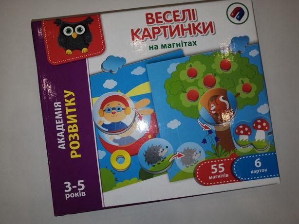 Магнитная игра Vladi Toys Веселые картинки (укр)