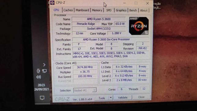 Vendo CPU Ryzen 5 2600 com caixa