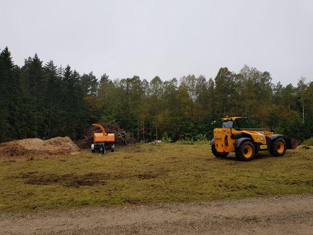 Przygotowanie terenu pod budowy,wycinka drzew