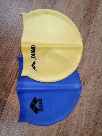 Шапочка голубая в бассейн для плавания arena оригинал