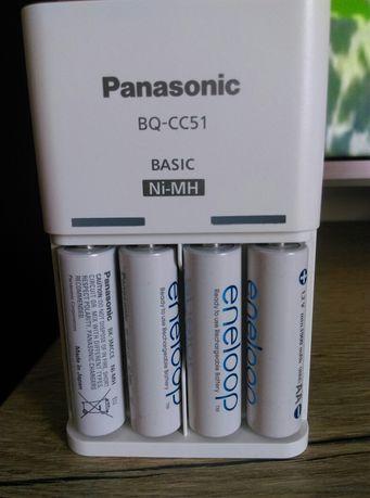 Ładowarka Panasonic z akumulatorami