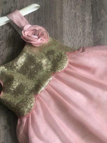 Нарядное длинное платье hm 4 - 5 -6 лет