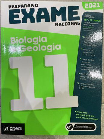 Livro Preparar o Exame Nacional 2021 Biologia e Geologia - areal