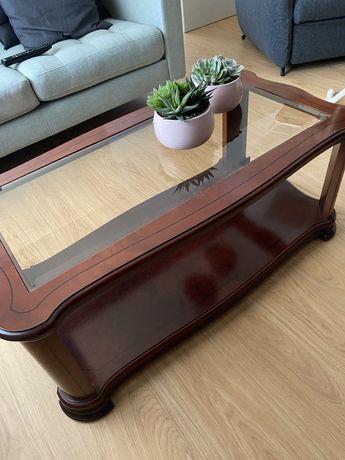 Mesa de centro em madeira de cerejeira